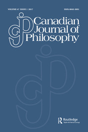 Canadian Journal of Philosophy Volume 47 - Issue 1 -