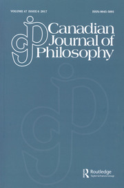 Canadian Journal of Philosophy Volume 47 - Issue 6 -