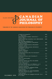 Canadian Journal of Philosophy Volume 6 - Issue 4 -