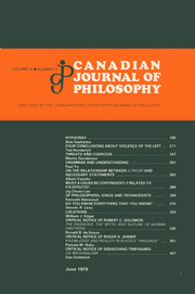 Canadian Journal of Philosophy Volume 9 - Issue 2 -