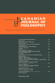 Canadian Journal of Philosophy Volume 9 - Issue 3 -