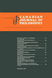 Canadian Journal of Philosophy Volume 9 - Issue 4 -