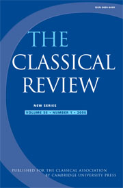The Classical Review Volume 56 - Issue 1 -