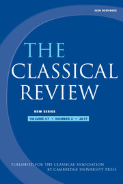 The Classical Review Volume 67 - Issue 2 -