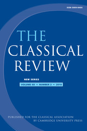 The Classical Review Volume 68 - Issue 2 -