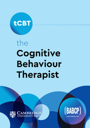 the Cognitive Behaviour Therapist