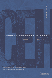 Central European History Volume 42 - Issue 2 -