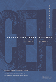 Central European History Volume 42 - Issue 3 -