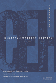 Central European History Volume 42 - Issue 4 -