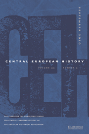 Central European History Volume 43 - Issue 3 -
