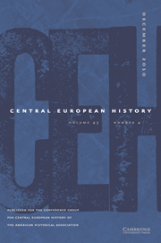 Central European History Volume 44 - Issue 3 -