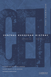 Central European History Volume 47 - Issue 3 -