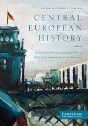 Central European History Volume 48 - Issue 2 -
