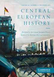 Central European History Volume 48 - Issue 4 -
