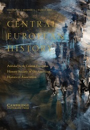 Central European History Volume 51 - Special Issue1 -  Special Commemorative Issue: Central European History at Fifty (1968–2018)