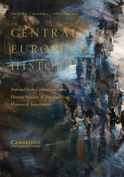 Central European History Volume 51 - Special Issue3 -  Masculinity and the Third Reich
