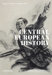 Central European History Volume 53 - Issue 4 -
