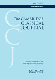 The Cambridge Classical Journal Volume 66 - Issue  -