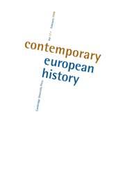 Contemporary European History Volume 17 - Issue 1 -