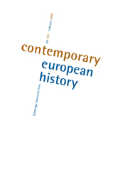 Contemporary European History Volume 18 - Issue 1 -