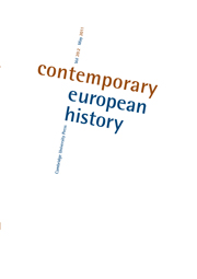 Contemporary European History Volume 20 - Issue 2 -