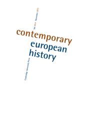 Contemporary European History Volume 20 - Issue 4 -
