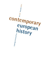 Contemporary European History Volume 22 - Issue 4 -