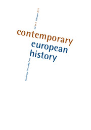 Contemporary European History Volume 24 - Issue 1 -