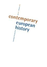 Contemporary European History Volume 24 - Issue 1 -