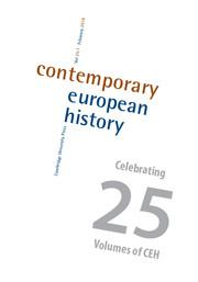 Contemporary European History Volume 25 - Issue 1 -