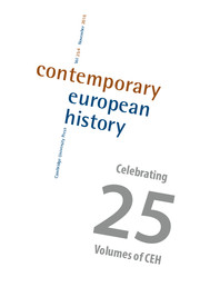 Contemporary European History Volume 25 - Special Issue4 -  Transnational Anti-Fascism: Agents, Networks, Circulations