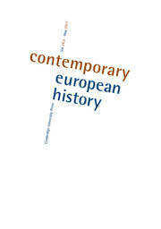 Contemporary European History Volume 26 - Issue 2 -