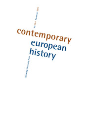 Contemporary European History Volume 26 - Issue 4 -  Entangled Transitions