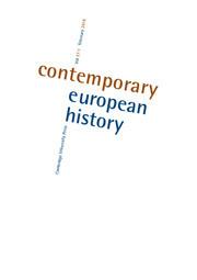Contemporary European History Volume 27 - Issue 1 -