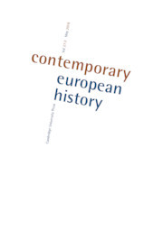 Contemporary European History Volume 27 - Special Issue2 -  Continuity and Change in European Cooperation during the Twentieth Century