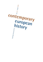 Contemporary European History Volume 27 - Issue 3 -