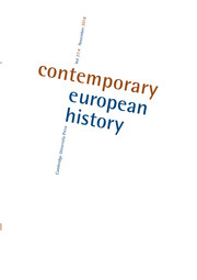 Contemporary European History Volume 27 - Issue 4 -