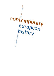 Contemporary European History Volume 28 - Issue 1 -