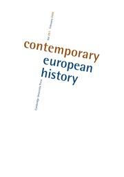 Contemporary European History Volume 29 - Issue 1 -