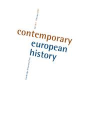 Contemporary European History Volume 30 - Issue 1 -