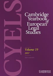 Cambridge Yearbook of European Legal Studies Volume 19 - Issue  -