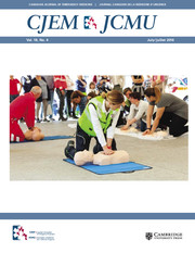 Canadian Journal of Emergency Medicine Volume 18 - Issue 4 -