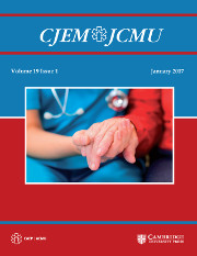 Canadian Journal of Emergency Medicine Volume 19 - Issue 1 -