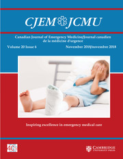 Canadian Journal of Emergency Medicine Volume 20 - Issue 6 -