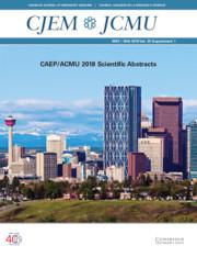 Canadian Journal of Emergency Medicine Volume 20 - SupplementS1 -
