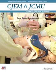 Canadian Journal of Emergency Medicine Volume 20 - SupplementS2 -