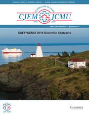 Canadian Journal of Emergency Medicine Volume 21 - SupplementS1 -