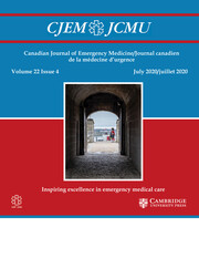 Canadian Journal of Emergency Medicine Volume 22 - Issue 4 -