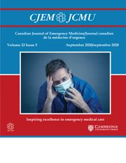 Canadian Journal of Emergency Medicine Volume 22 - Issue 5 -