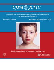 Canadian Journal of Emergency Medicine Volume 22 - Issue 6 -